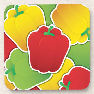 Funky traffic light peppers coaster