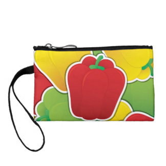 Funky traffic light peppers coin purse