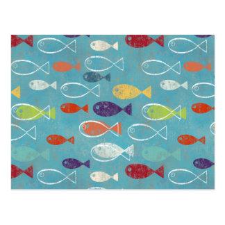 Funky Trendy Fish Postcard