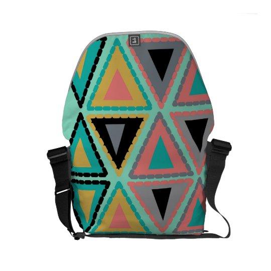 funky triangle messenger bag