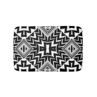 Funky Tribal Chevron Pattern Bath Mat Bath Mats