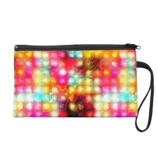 funky tropical colors abstract 2 wristlet purse
