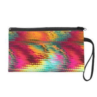 funky tropical colors abstract wristlets
