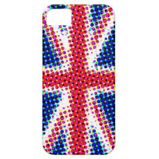 Funky Union Jack (British Flag) iPhone Case iPhone 5 Cover