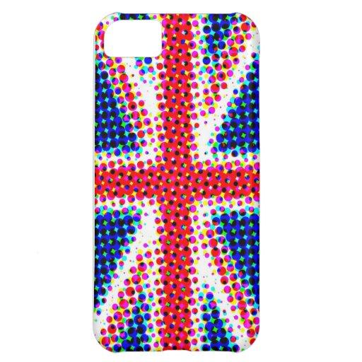 Funky Union Jack (British Flag) iPhone Case iPhone 5C Cases
