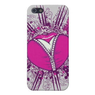 funky unzipped heart vector illustration iPhone 5/5S case