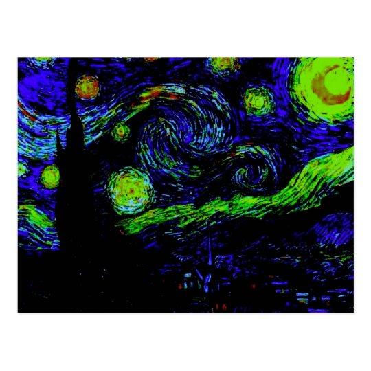 Funky Van Gogh Starry Night Postcard