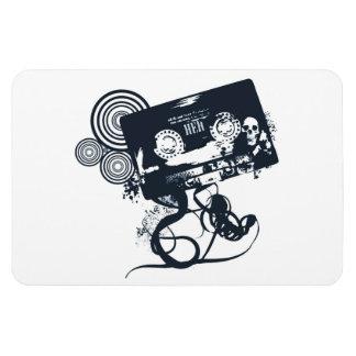 Funky vector cassette rectangular photo magnet