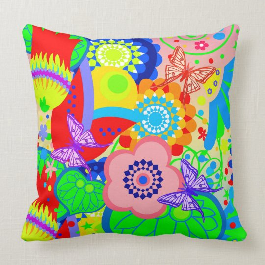 Funky Vector seamless, bright pattern Cushion