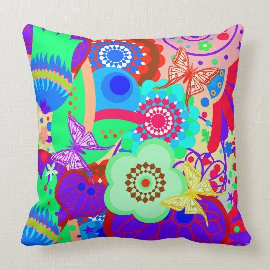Funky Vector seamless, with butterflies Cushion