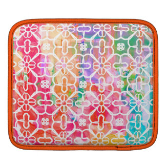 Funky very colorful pattern iPad sleeve