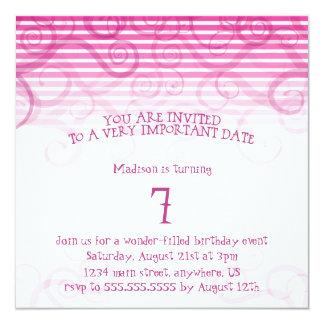 Funky Vines Birthday Invitation