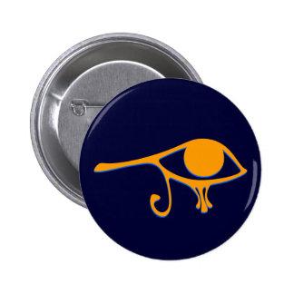 Funky Wadjet Gold Blue Pinback Button