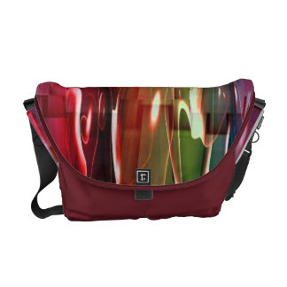 Funky Water Abstract Messenger Bag