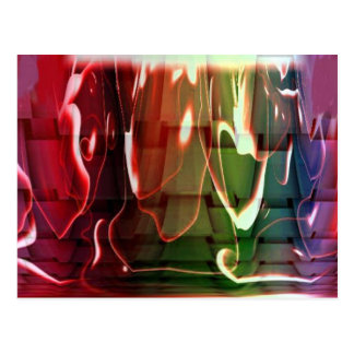 Funky Water Abstract Post Card