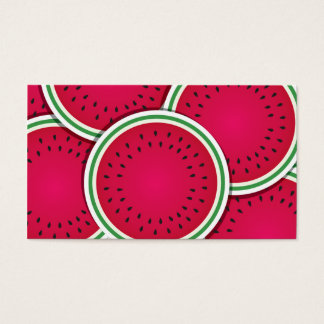 Funky watermelon slices business card