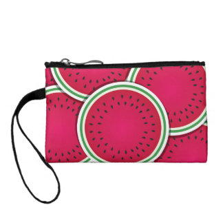 Funky watermelon slices coin purse