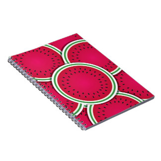 Funky watermelon slices spiral notebook