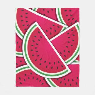 Funky watermelon wedges fleece blanket