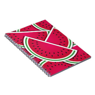 Funky watermelon wedges notebook