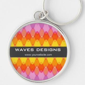 Funky Waves | 01 *Magenta Yellow | Custom Keychain