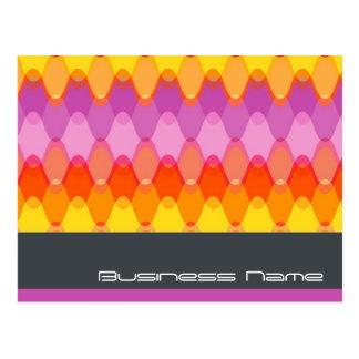Funky Waves 01 Modern Designer Custom Postcard