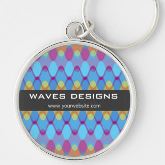 Funky Waves | 02 * Blue Purple Custom Keychain