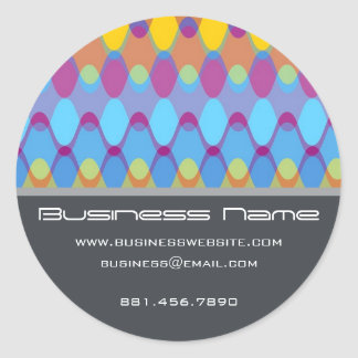 Funky Waves | 02 * Designer Custom Label Sticker