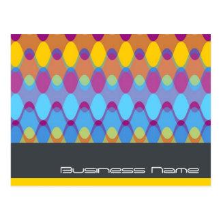 Funky Waves 02 Modern Designer Custom Postcard