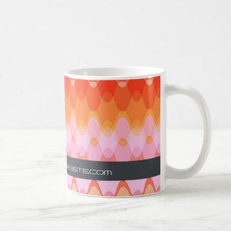 Funky Waves | 03 * Modern Designer Custom Gift Mug