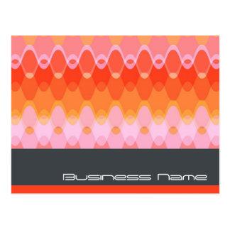 Funky Waves   03 * Modern Designer Custom Postcard