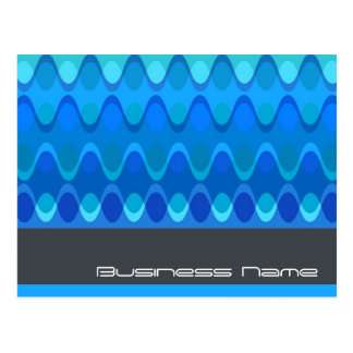 Funky Waves 04 Modern Designer Custom Postcard
