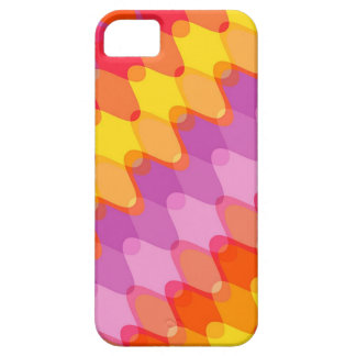 Funky Waves Red Pink Purple Retro Mod Art Pattern iPhone 5 Cover