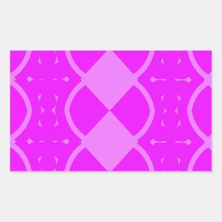 Funky Weaves Rectangular Sticker