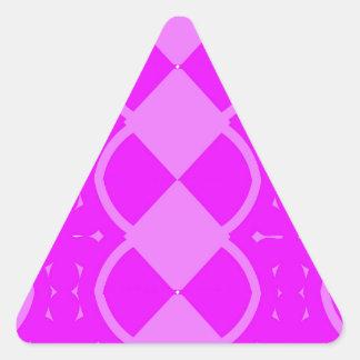 Funky Weaves Triangle Sticker