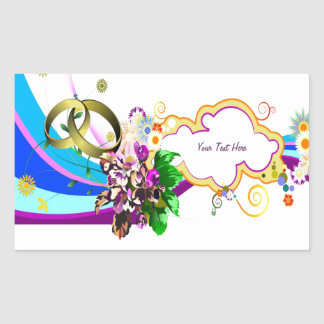 Funky Wedding (personalized) Rectangle Stickers