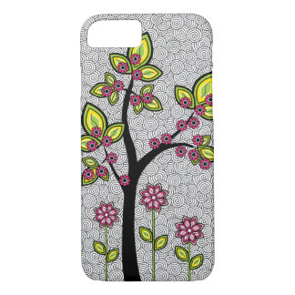 Funky Whimsical Artsy Modern Vector iPhone 8/7 Case