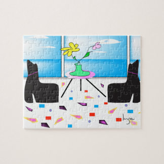 Funky Whimsical Colorful Miami, Graphic Jigsaw Puzzle