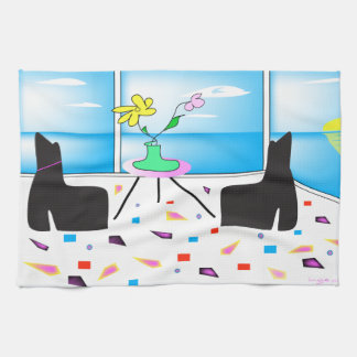Funky Whimsical Colorful Miami, Graphic Towels