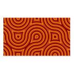Funky Wild Circle Seamless Pattern Orange Business Card Templates