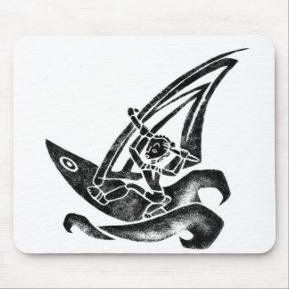 Funky Windsurfer Mouse Pad