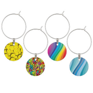 Funky Wine Charms