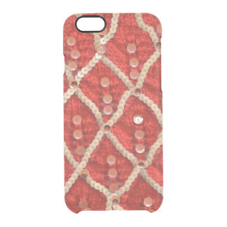 Funky Wool and Sequin Textile Design by Zona Clear iPhone 6/6S Case