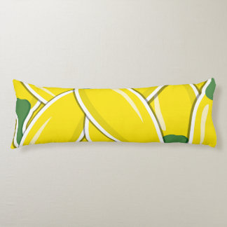 Funky yellow chilli peppers body cushion