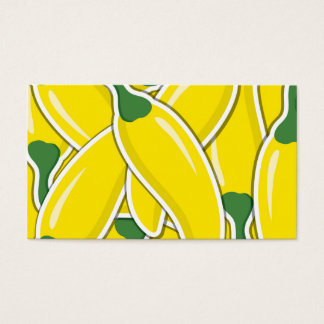Funky yellow chilli peppers business card