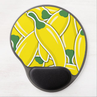 Funky yellow chilli peppers gel mouse pad