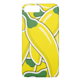 Funky yellow chilli peppers iPhone 8 plus/7 plus case