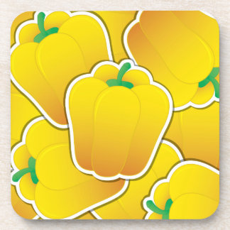 Funky yellow pepper coaster