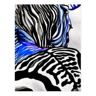 Funky Zebra K Turnbull Art Post Cards