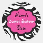"Funky Zebra ""Sweet Sixteen"" Stickers"